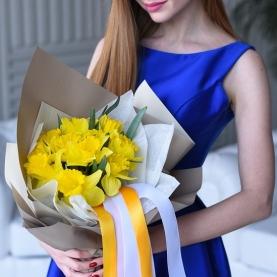 11 Желтых Нарциссов фото