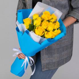 11 Желтых Роз (50 см.) фото