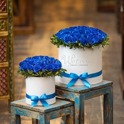 51 Синяя Роза в коробке фото