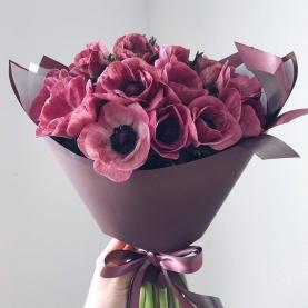 13 Розовых Анемонов фото