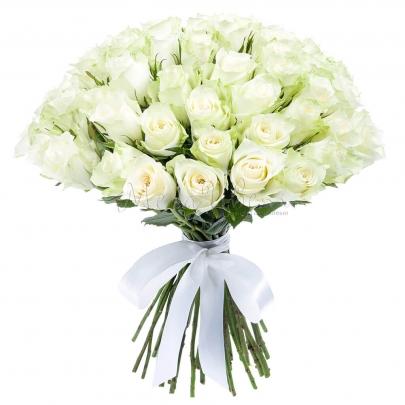 75 Белых Роз фото
