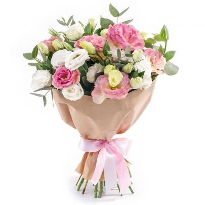 15 Бело-Розовых Эустом фото