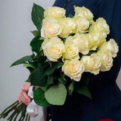 15 Белых Роз Эквадор (70/80 см.) фото