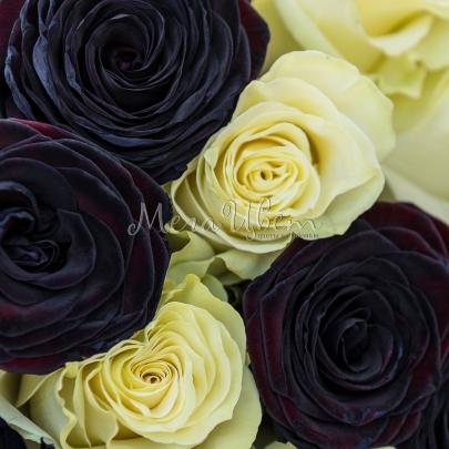 15 Черно-Белых Роз фото