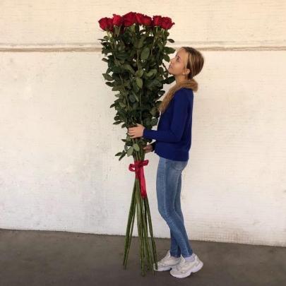 15 Красных Роз (180-200 см.) фото