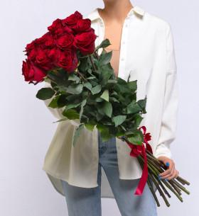 15 Красных Роз (100 см.) фото