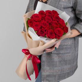 15 Красных Роз (50 см.) фото