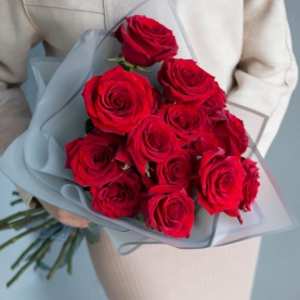 15 Красных Роз Premium (50/60 см.) фото