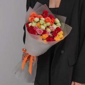 15 Кустовых Роз Микс (50 см.) фото
