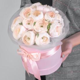 15 Нежно-Розовых Ранункулюсов фото