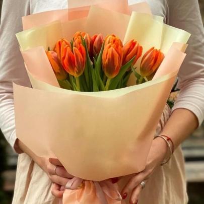 15 Оранжевых Тюльпанов фото
