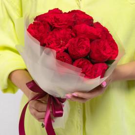 15 Пионовидных Красных Роз (40 см.) фото