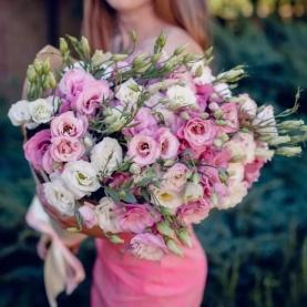 21 Бело-Розовая Эустома фото