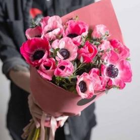 15 Розовых Анемонов фото