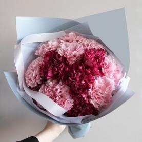 15 Розовых и Малиновых Гвоздик фото
