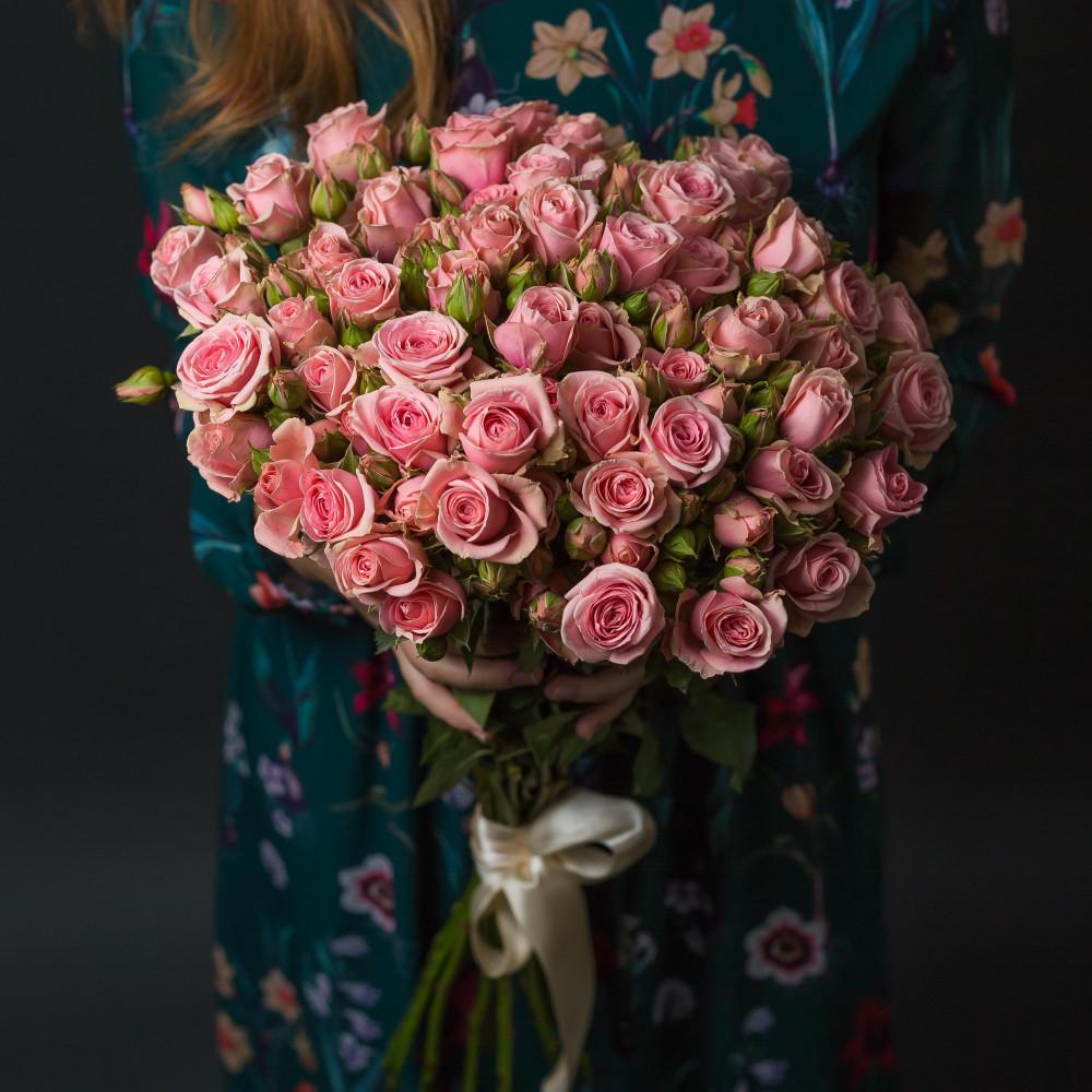 15 Розовых Роз Кустовых фото