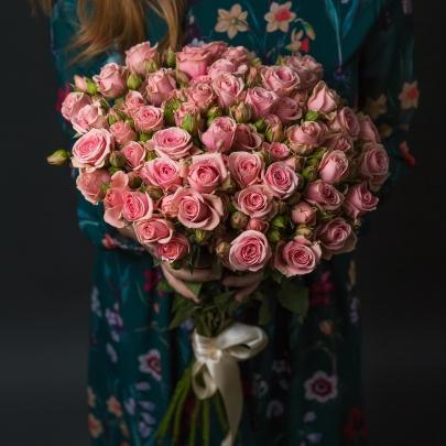 15 Розовых Кустовых роз фото