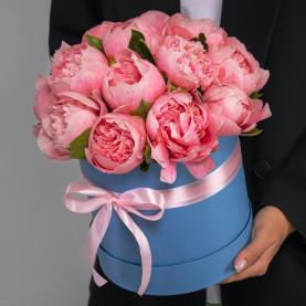15 Розовых Пионов в коробке фото