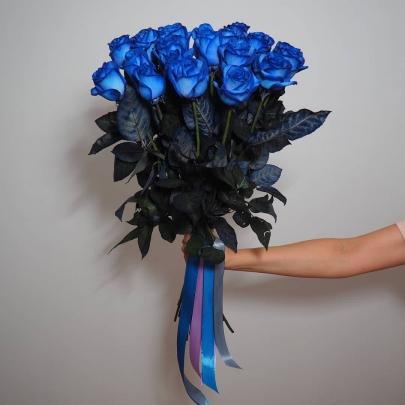 15 Синих Роз (60 см.) фото