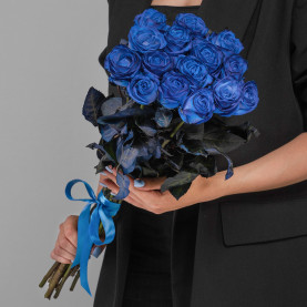 15 Синих Роз (70 см.) фото