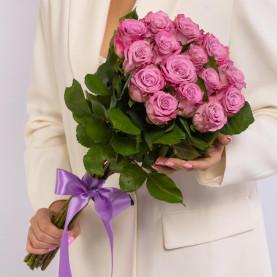 15 Сиреневых Роз (60 см.) фото
