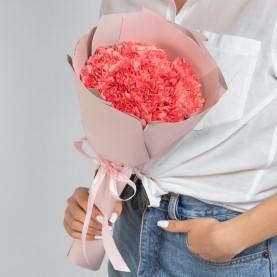 15 Ярко-Розовых Гвоздик фото