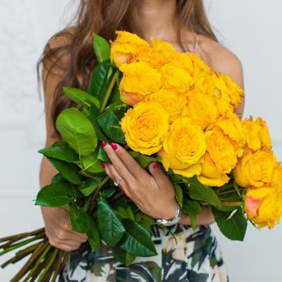 15 Желтых Роз (70 см.) фото