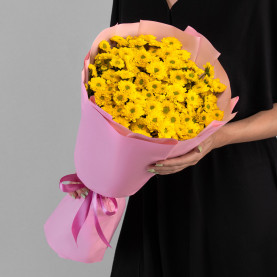 15 Желтых Сантини Ромашка фото