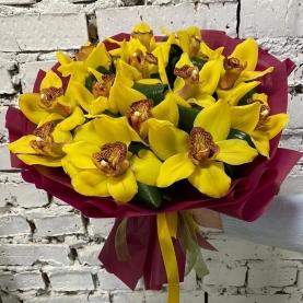 15 Желтых Орхидей фото