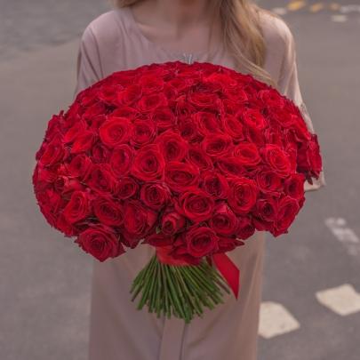 151 Красная Роза Premium (60 см.) фото