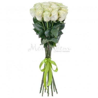 17 Белых Роз Эквадор (70/80 см.) фото