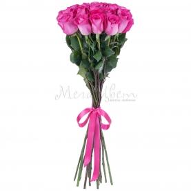17 Малиновых Роз Эквадор (70/80 см.)  фото