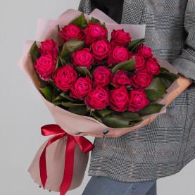19 Малиновых Роз (60 см.) фото