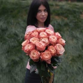19 Персиковых Роз (Эквадор 60 см.) фото
