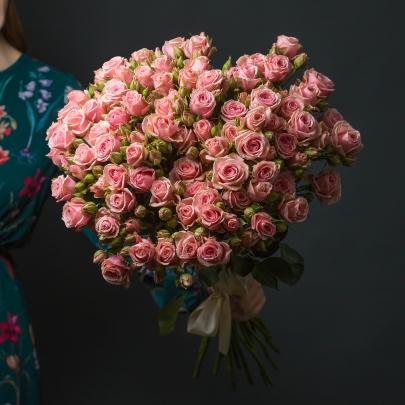 19 Розовых Роз Кустовых фото