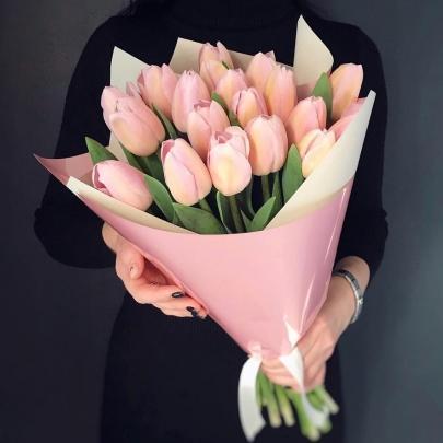 19 Розовых Тюльпановфото
