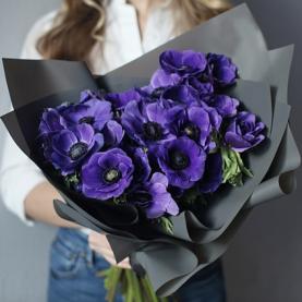 19 Синих Анемонов фото