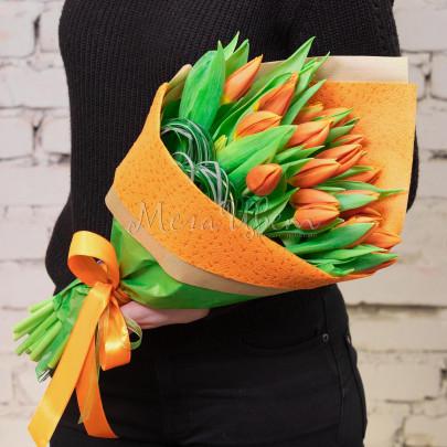 19 Тюльпанов оранжевых фото