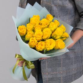 19 Желтых Роз (50 см.) фото