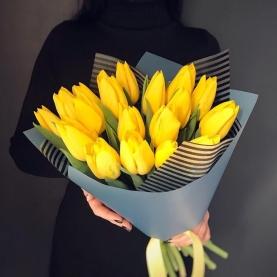 19 Тюльпанов желтых фото