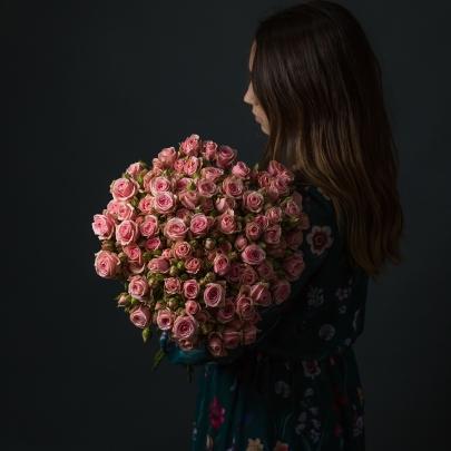 21 Розовая Роза Кустовая фото