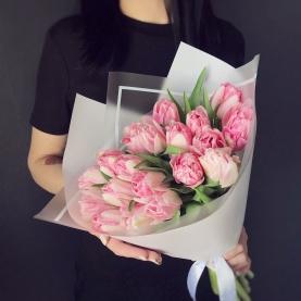 21 Розовый Пионовидный Тюльпан фото