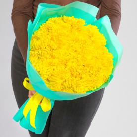 21 Желтая Кустовая Хризантема фото