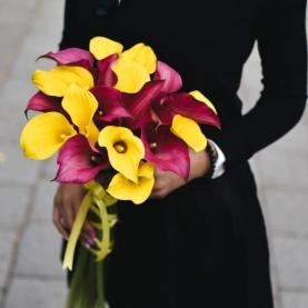 21 Желтая и Розовая Калла фото