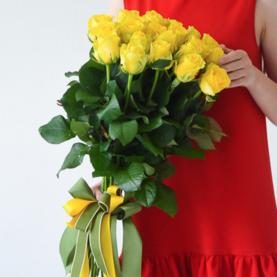 21 Желтая Роза (50/60 см.) фото