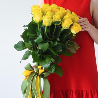 21 Желтая Роза (60 см.) фото