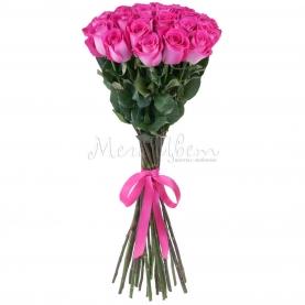 25 Малиновых Роз Эквадор (70 см.) фото