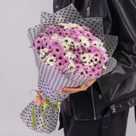25 Белых и Розовых Сантини Инь-Янь фото