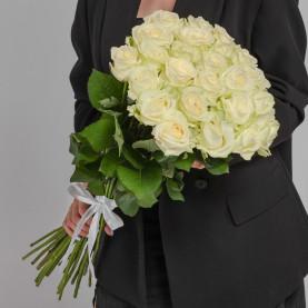 25 Белых Роз (70 см.) фото