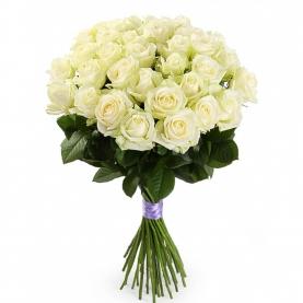 25 Белых Роз Premium (50/60 см.) фото